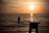 Zachód słońca w mieście koh kood — Zdjęcie stockowe