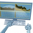 Robot trader - Foto Stock