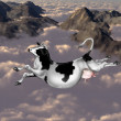 Flying cow — Foto de Stock