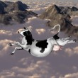 Flying cow — Stock Photo
