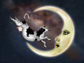 Cow Jumped Over The Moon — Stock Photo