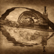 Grungy Steampunk Boat - Foto Stock