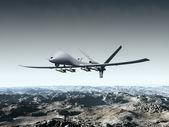 无人的战斗机 — 图库照片
