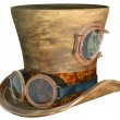 Steampunk Hat and Goggles - Stok fotoğraf