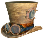 Steampunk şapka ve gözlük — Stok fotoğraf