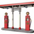 Vintage Gas Pumps — Stock Photo