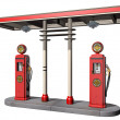 Vintage Gas Pumps - Foto Stock