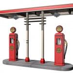 Vintage Gas Pumps — Stock Photo