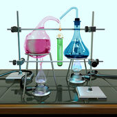 Impossible chemistry experiment — Stock Photo