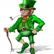 Cheeky Leprechaun — Stock Photo