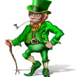 Stock Photo: Cheeky Leprechaun
