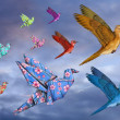 Stock Photo: Origami Bird Dreamscape