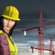 Female construction worker — ストック写真
