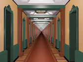 Never Ending Art Deco Corridor — Stock Photo