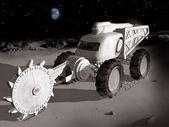 Mining on the moon — Stock Photo