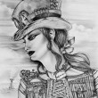 Steampunk Woman — Stockfoto