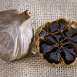 Black garlic — Foto de Stock