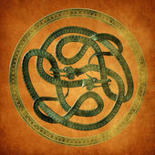 Serpent Celtic Knot — Stock Photo