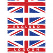 Stock Photo: Grunge Union Jack flags