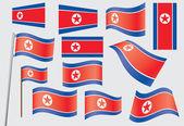 Flag of North Korea — Stock Vector