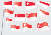 Flag of Singapore — Stock Vector