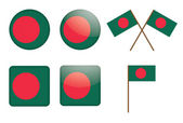 Badges with flag of Banglades — Stock Vector