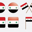 Badges with flag of Syria - Stock Vector