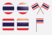 Badges with flag of Thailand — Stock Vector