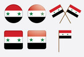 Badges with flag of Syria — Stock Vector