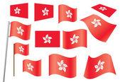 Flag of Hong Kong — Stock Vector
