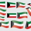 Flag of Kuwait - Stock Vector