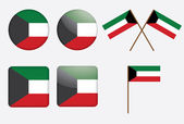 Badges with flag of Kuwait — Stock Vector