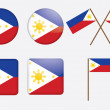 Badges with flag of Philippines - Stock Vector