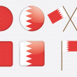 Badges with flag of Bahrain — Imagen vectorial