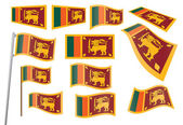 Flag of Sri Lanka — Stock Vector