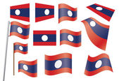 Flag of Laos — Stock Vector
