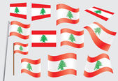 Flag of Lebanon — Stock Vector