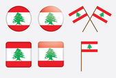 Badges with flag of Lebanon — Stock Vector