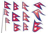 Flag of Nepal — Stock Vector