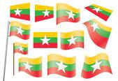 Flag of Burma — Stock Vector