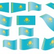 Flag of Kazakhsta — Stockvektor