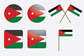Badges with flag of Jordan — Stock Vector