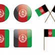 Badges with flag of Afghanistan — Vettoriali Stock