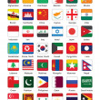 Buttons with flags of Asia — Imagen vectorial