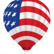 Balloon with United States flag — Stock Vector #12392733