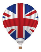Balloon with United Kingdom flag — Stock Vector
