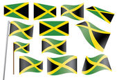 Flag of Jamaica — Stock Vector