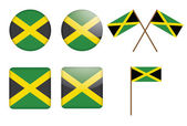 Badges with flag of Jamaica — Stock Vector