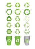 Reciclar los iconos — Vector de stock