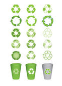 Recycle icons — Vector de stock
